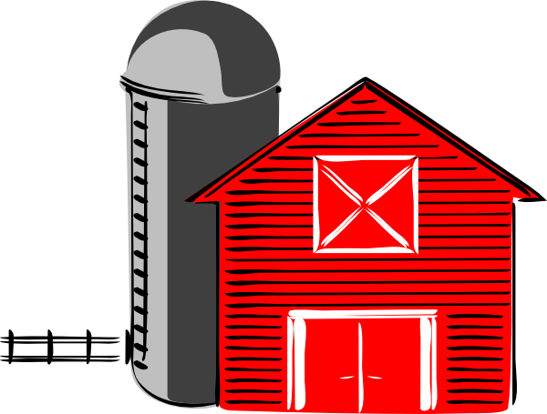 Drawing barns simple. Free farm house clipart