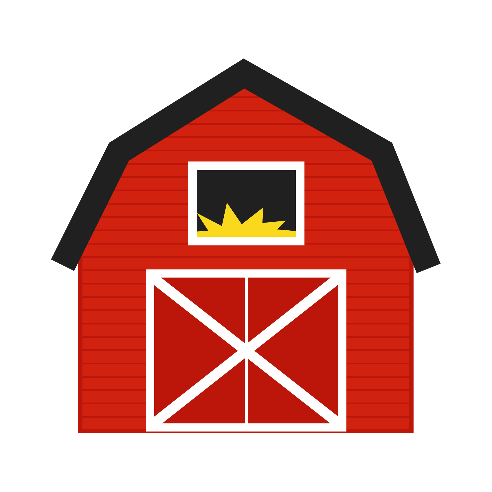 Drawing barns simple. Farm house clip art