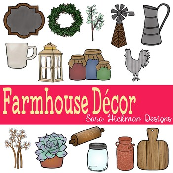 Farmhouse clipart farmhouse decor. By sara hickman designs