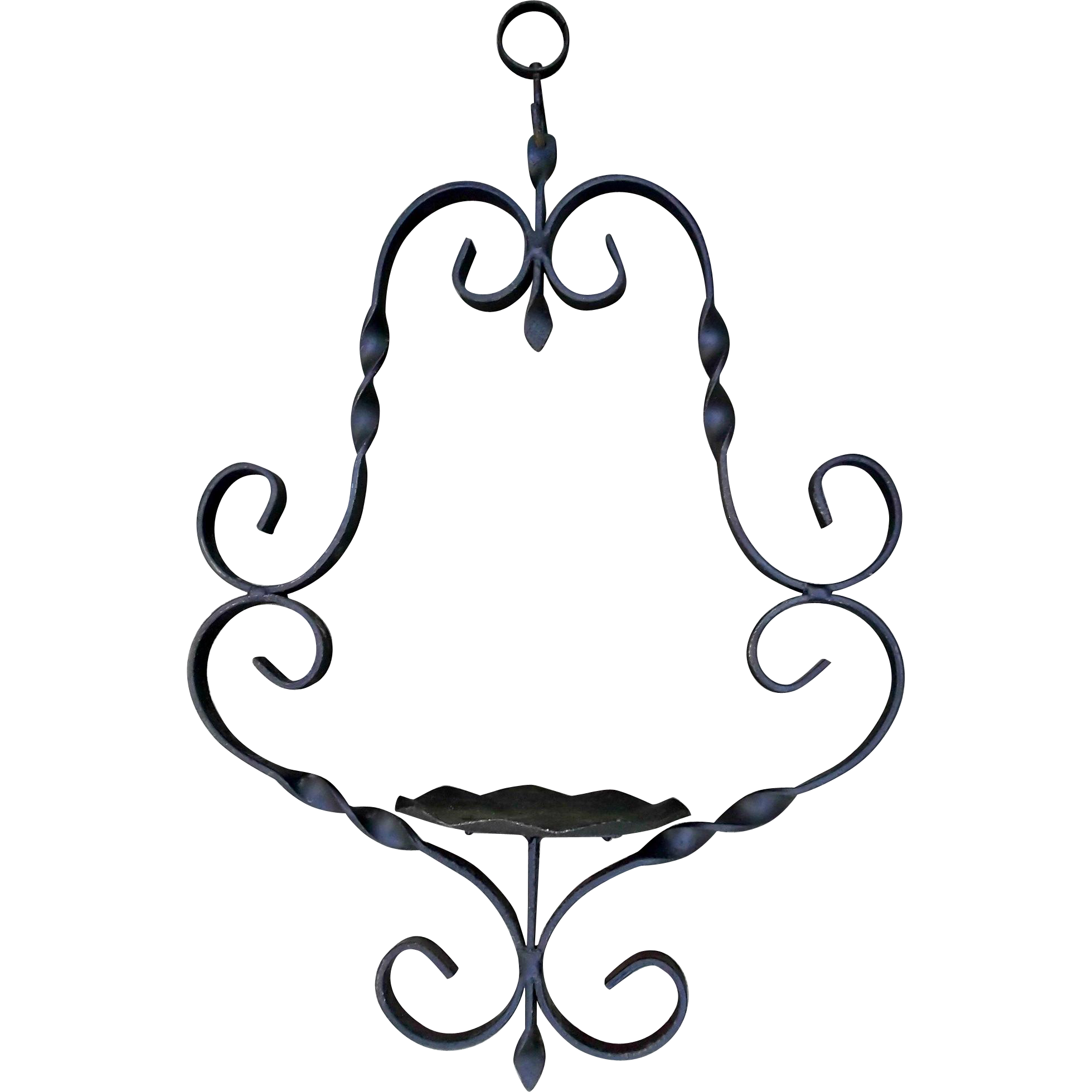Hanger clipart vintage. Hand forged wrought iron