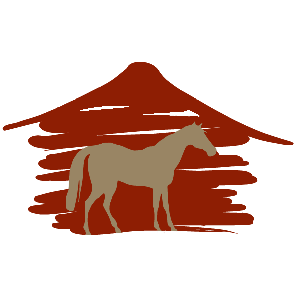 Farmhouse clipart horse shelter. The red barn
