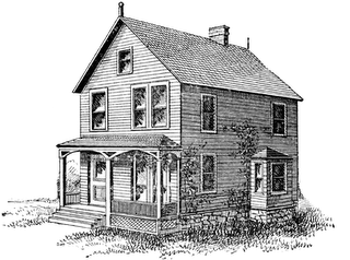 Drawing farmhouse old. Farm house graphics illustrations