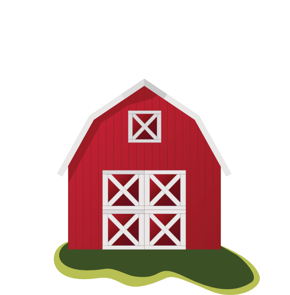 Barn clipart little red. Farmhouse png freeuse