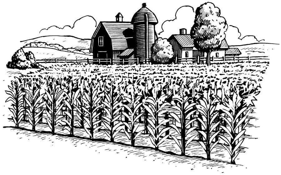 Farming clipart. Farm black and white