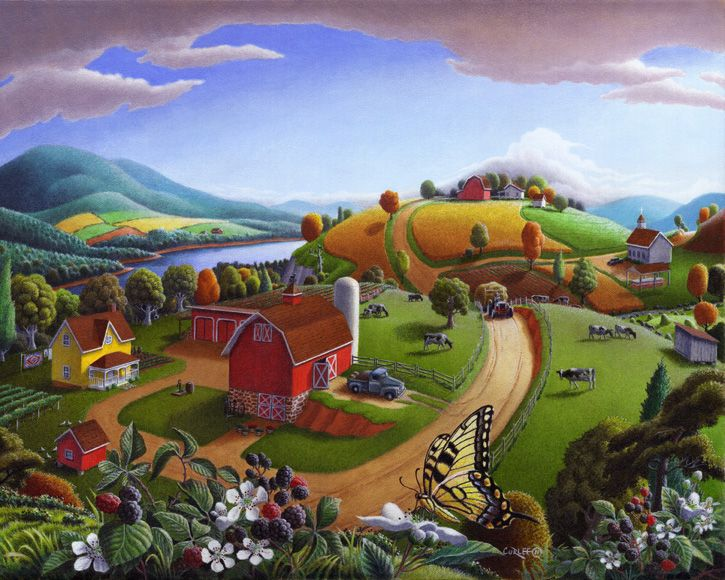 farming clipart countryside