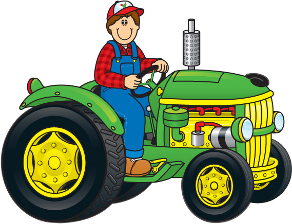 Farming clipart farm equipment. Tractor and background