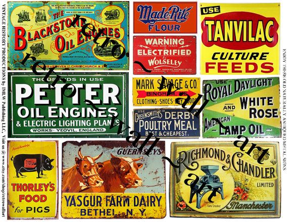 Farming clipart farm sign. Rusty metal signs printed