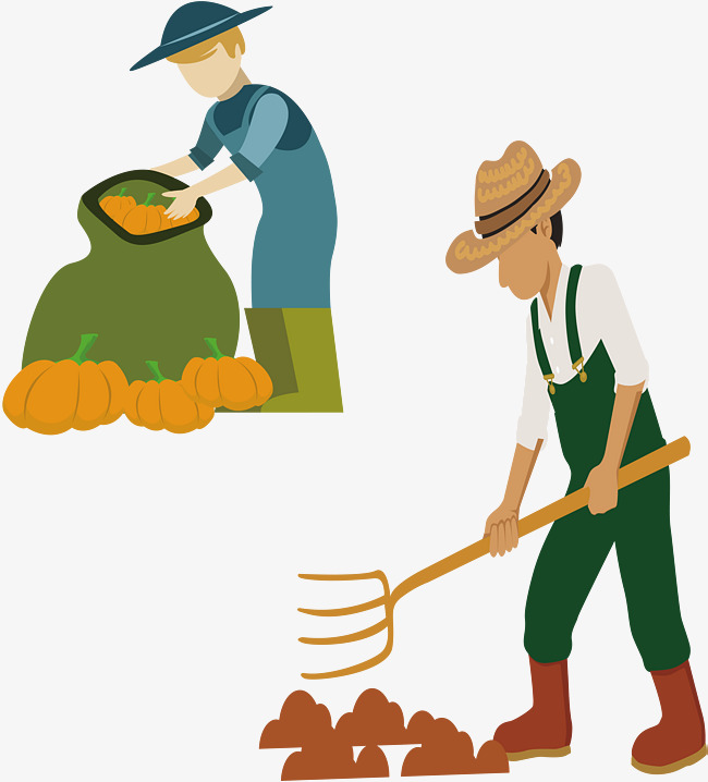Farming clipart farm worker. Hard peasant farmers workers