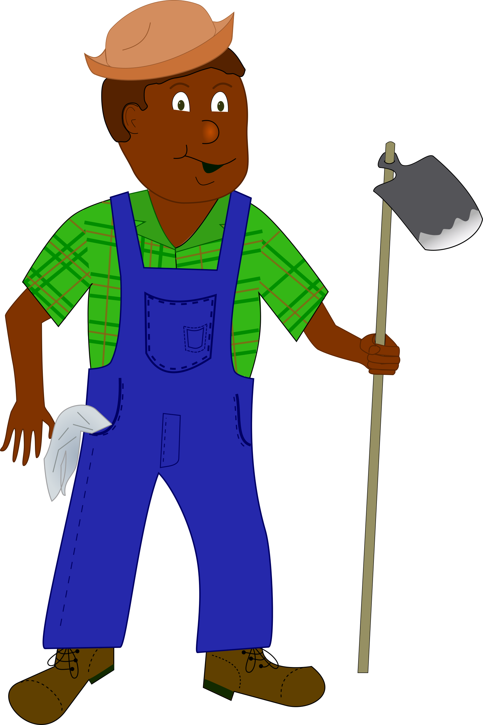 Farming clipart farm worker. African farmer big image
