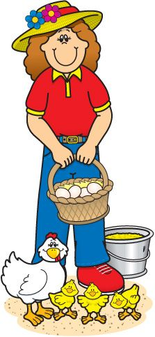 Farming clipart farm worker. Girl clip art pinterest