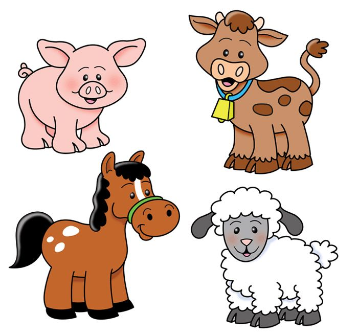 Farming clipart feed the animal. Farm animals cows goats