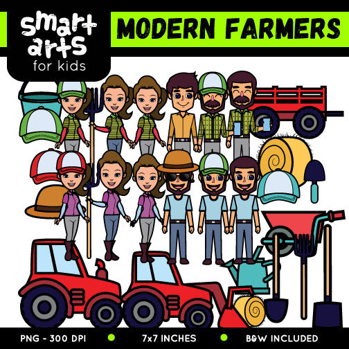 Farming clipart modern farm. Farmer digital svg