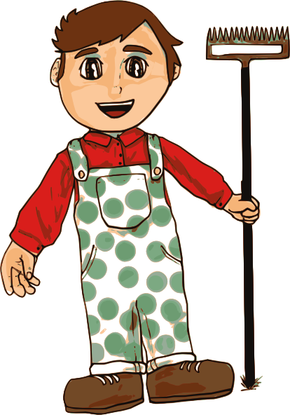 Farming clipart small farm. Farmer boy clip art