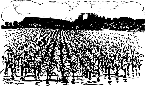 Farmland vector black and white. Agriculture clip library