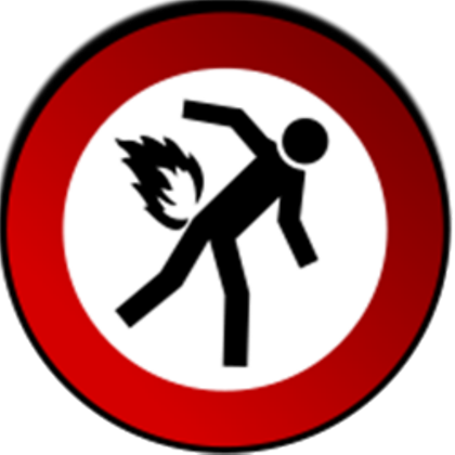 Fart clipart fire. Don t by ninja