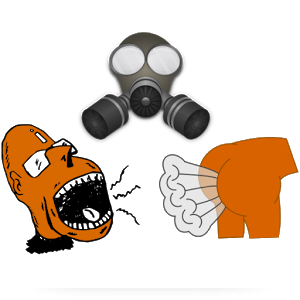 Fart clipart gas mask. What the fg android