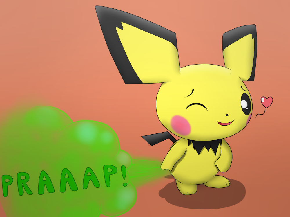 Fart clipart poot. Pichu practice by jovialpony