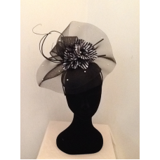 Fascinator clip black and white. Outrageous fascinators weddings race