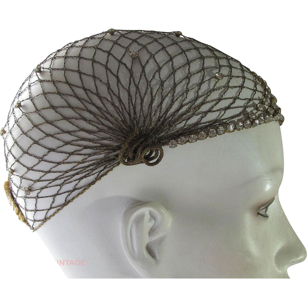 Fascinator clip great gatsby hair. Vintage s flapper gold