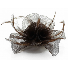 Fascinator clip grey. Wholesale hair accessories uk