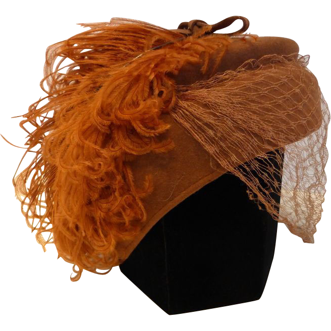 Fascinator clip ostrich feather. S glenover henry