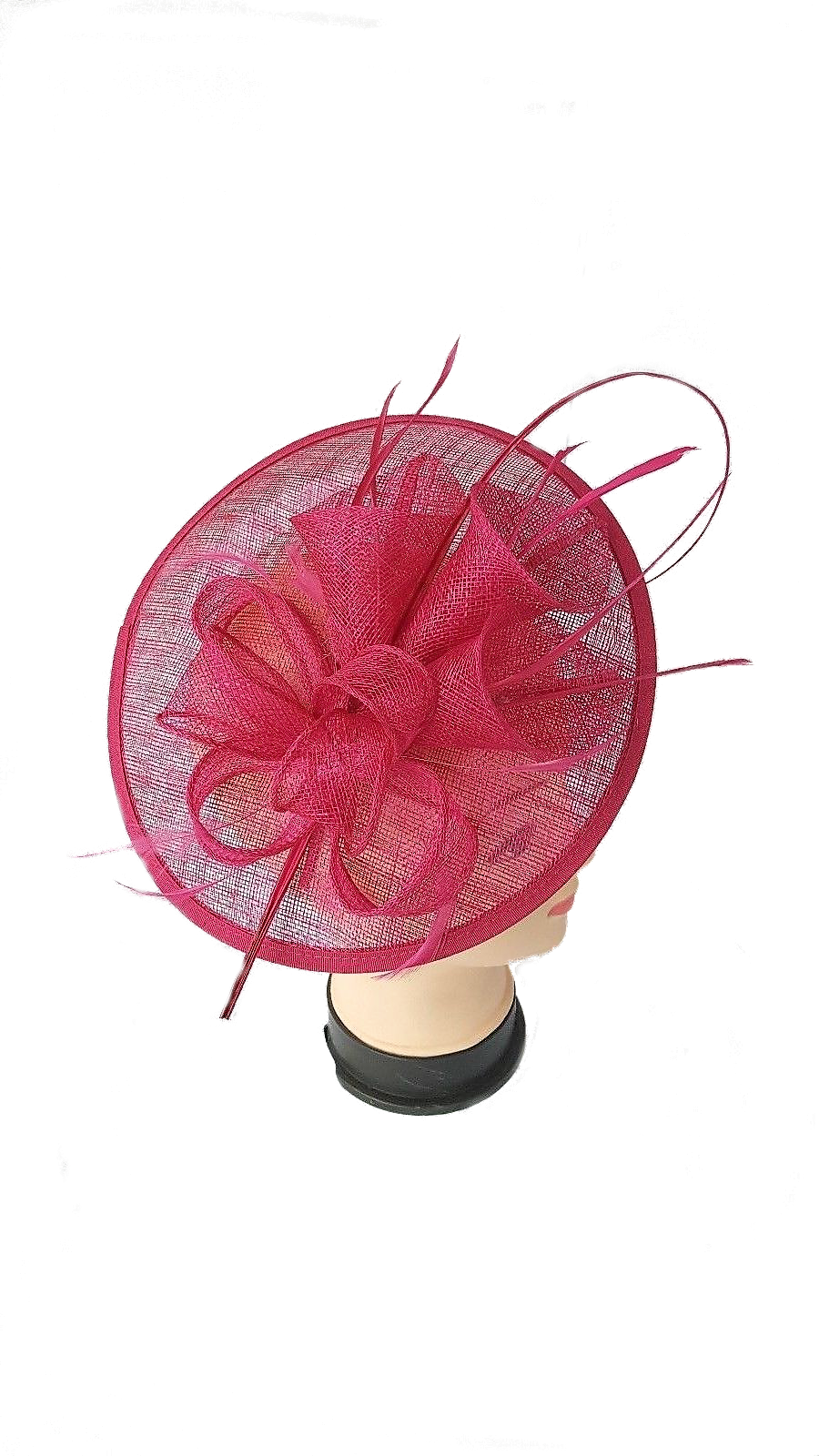 Fascinator navy cream