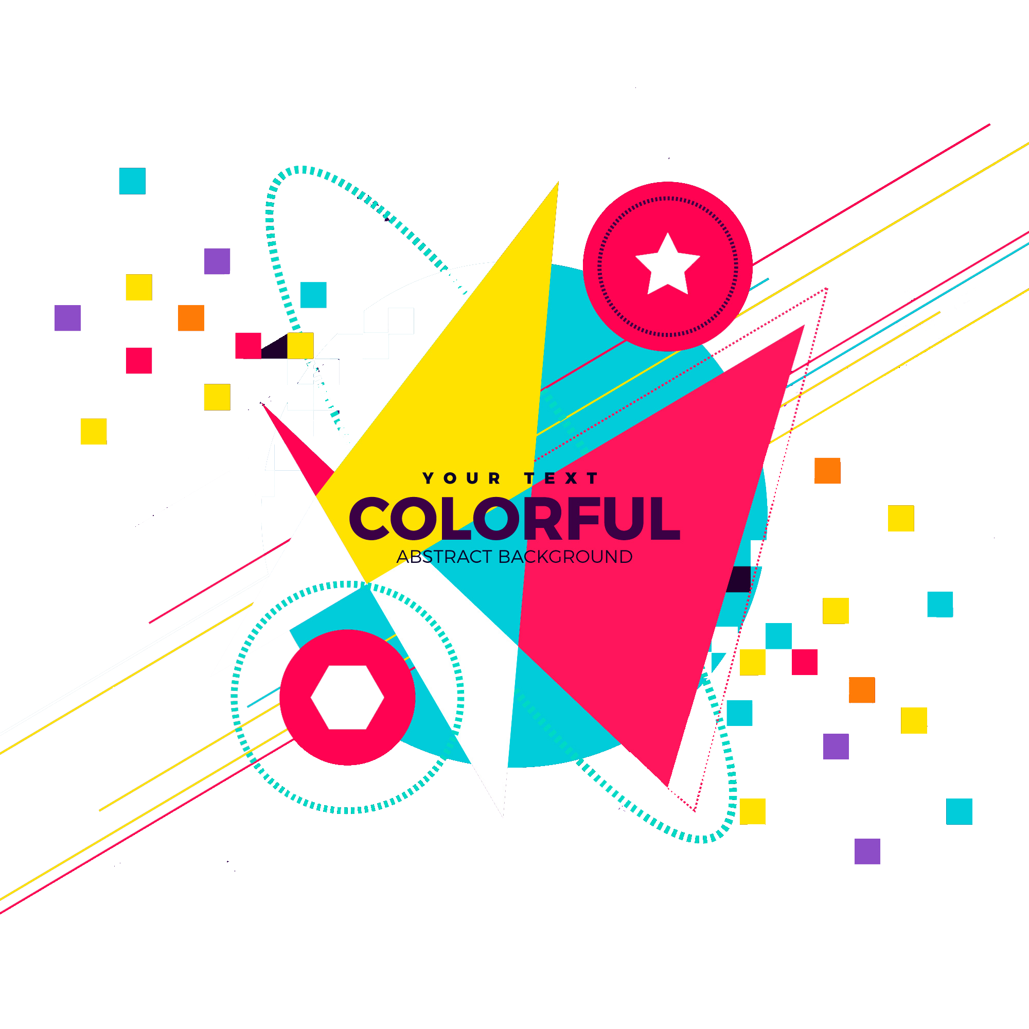 Colorful peoplepng com . Fashion abstract background png banner free library