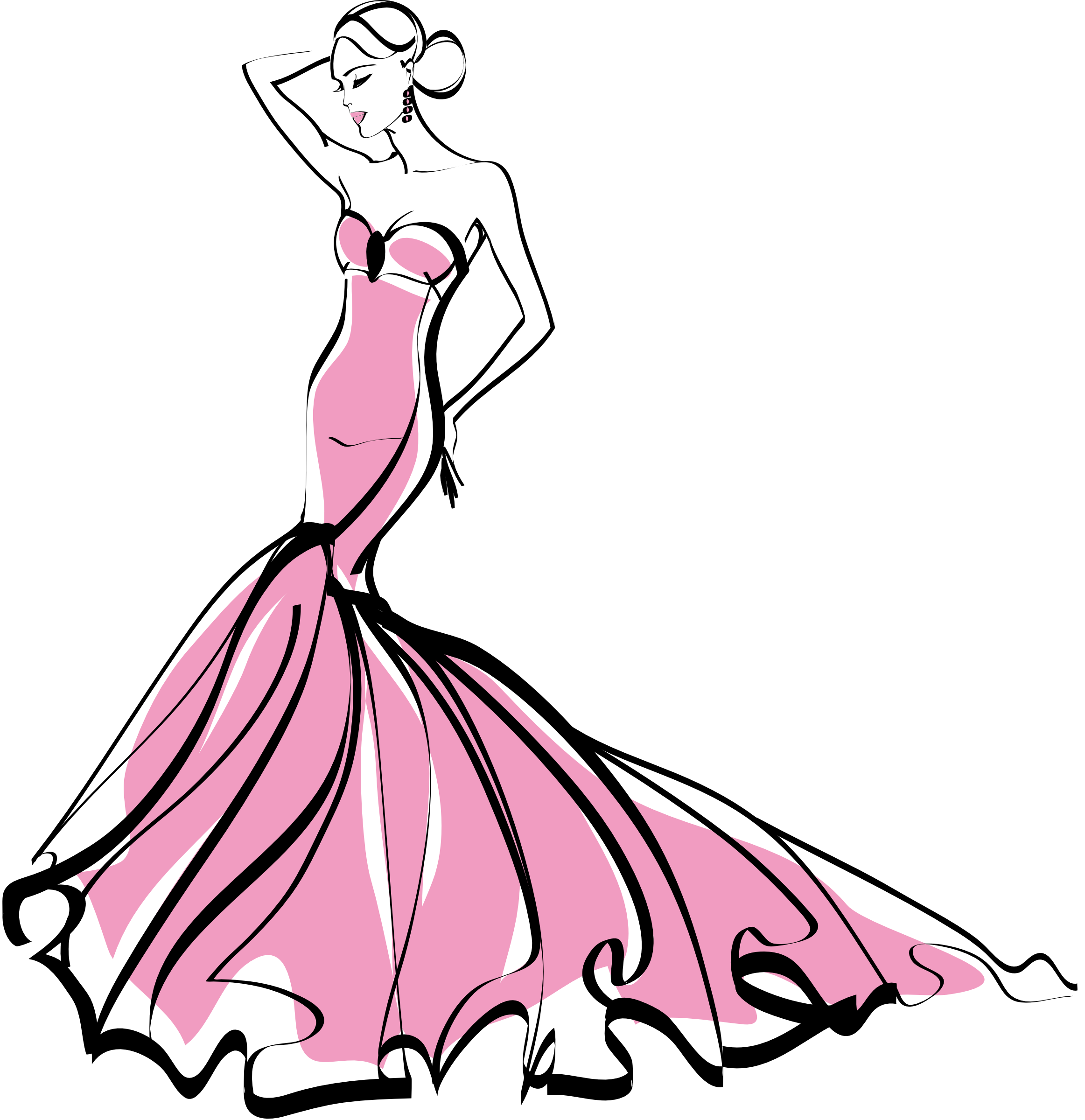 Fashion png free download. Woman clipart mannequin vector download