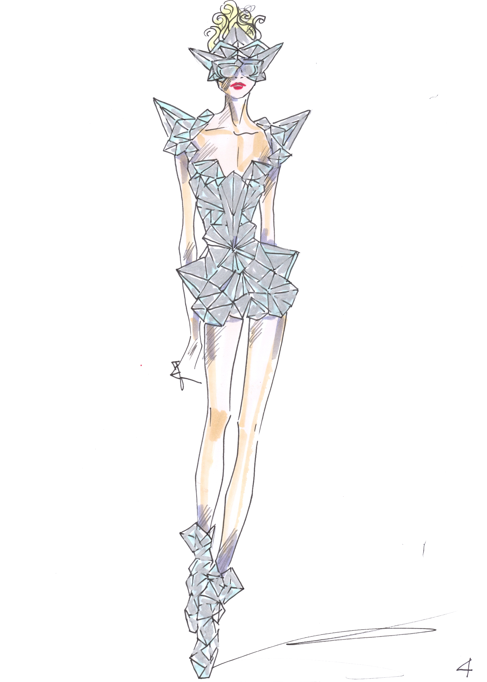 costume drawing model