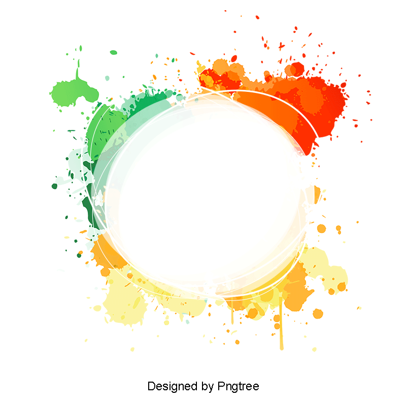Circle banner png. Fashion colorful background and