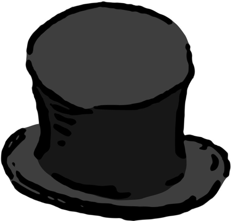 Fashion clipart cap. Top hat clothing headgear