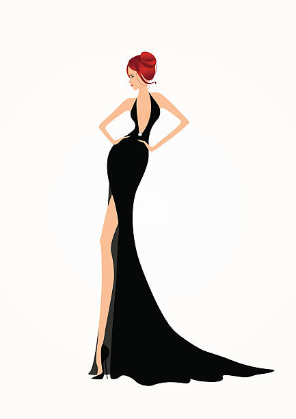 Fashion clipart dress. Black silhouette clip art
