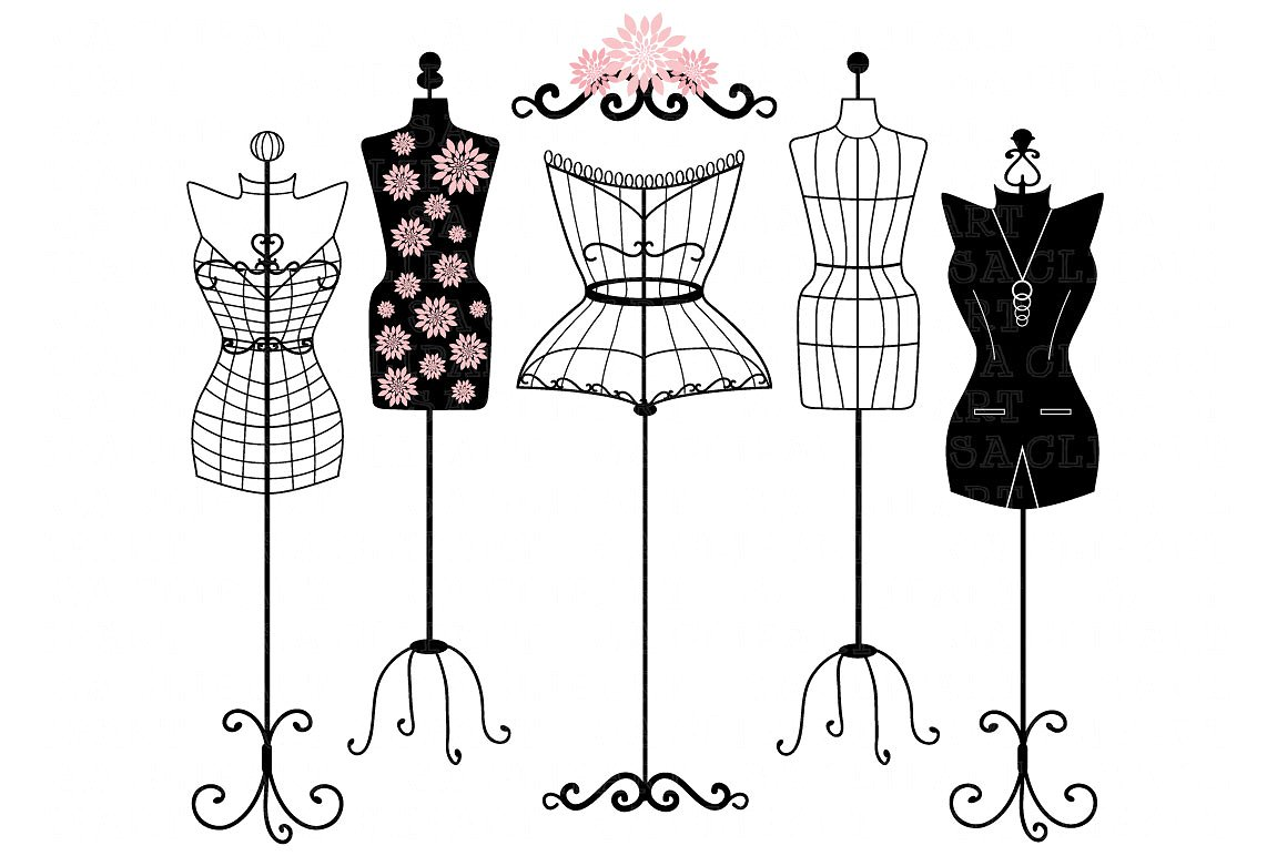 Fashion clipart dummy. Mannequin silhouette illustrations creative
