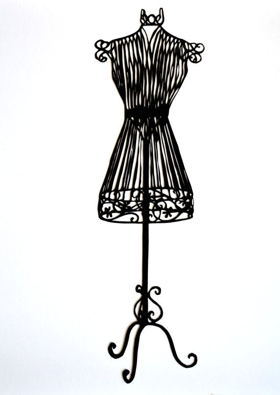 Fashion clipart dummy. Mannequin silhouette at getdrawings