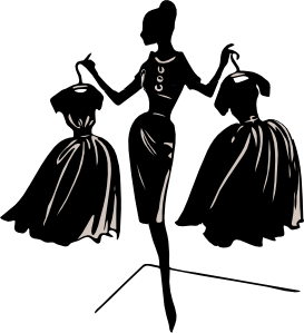 female clipart fashion model