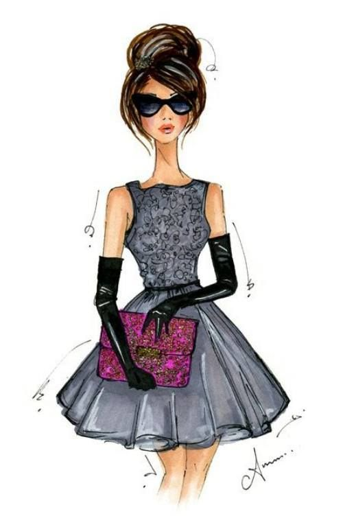 Fashion clipart fashion drawing. Girl at getdrawings com