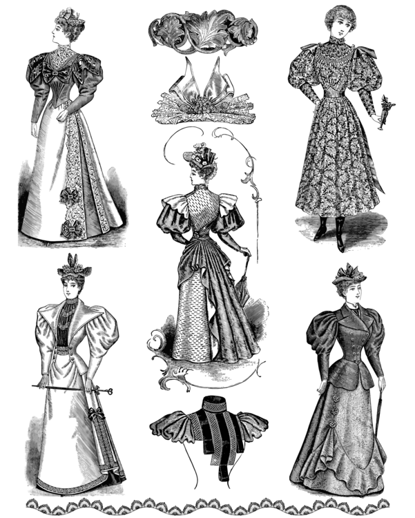 Fashion clipart fashion drawing. Vintage clothing free commercial