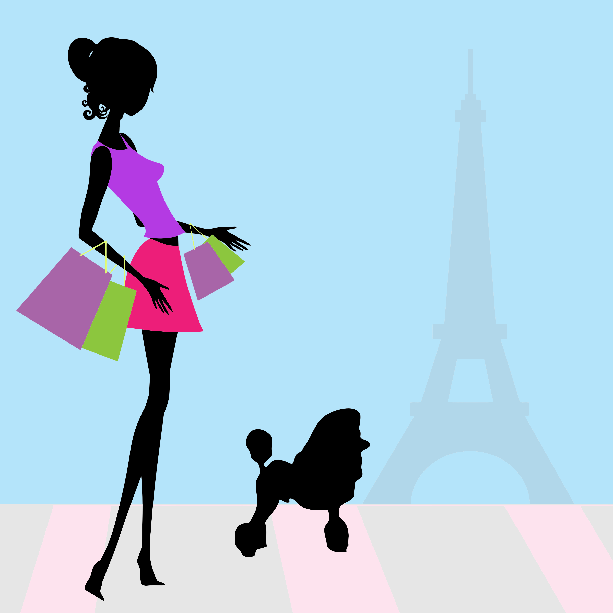 Fashion clipart fashion paris. Woman shopping big image