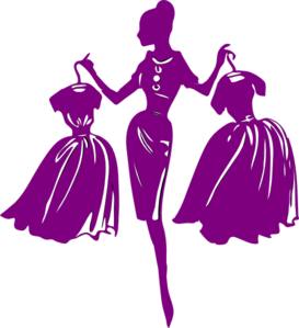 Fashion clipart shopper. Purple clip art at