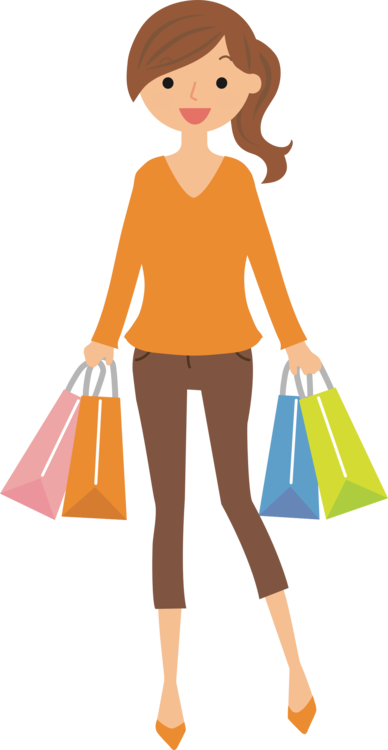 Woman shopper girl female. Shopping transparent personal graphic transparent library