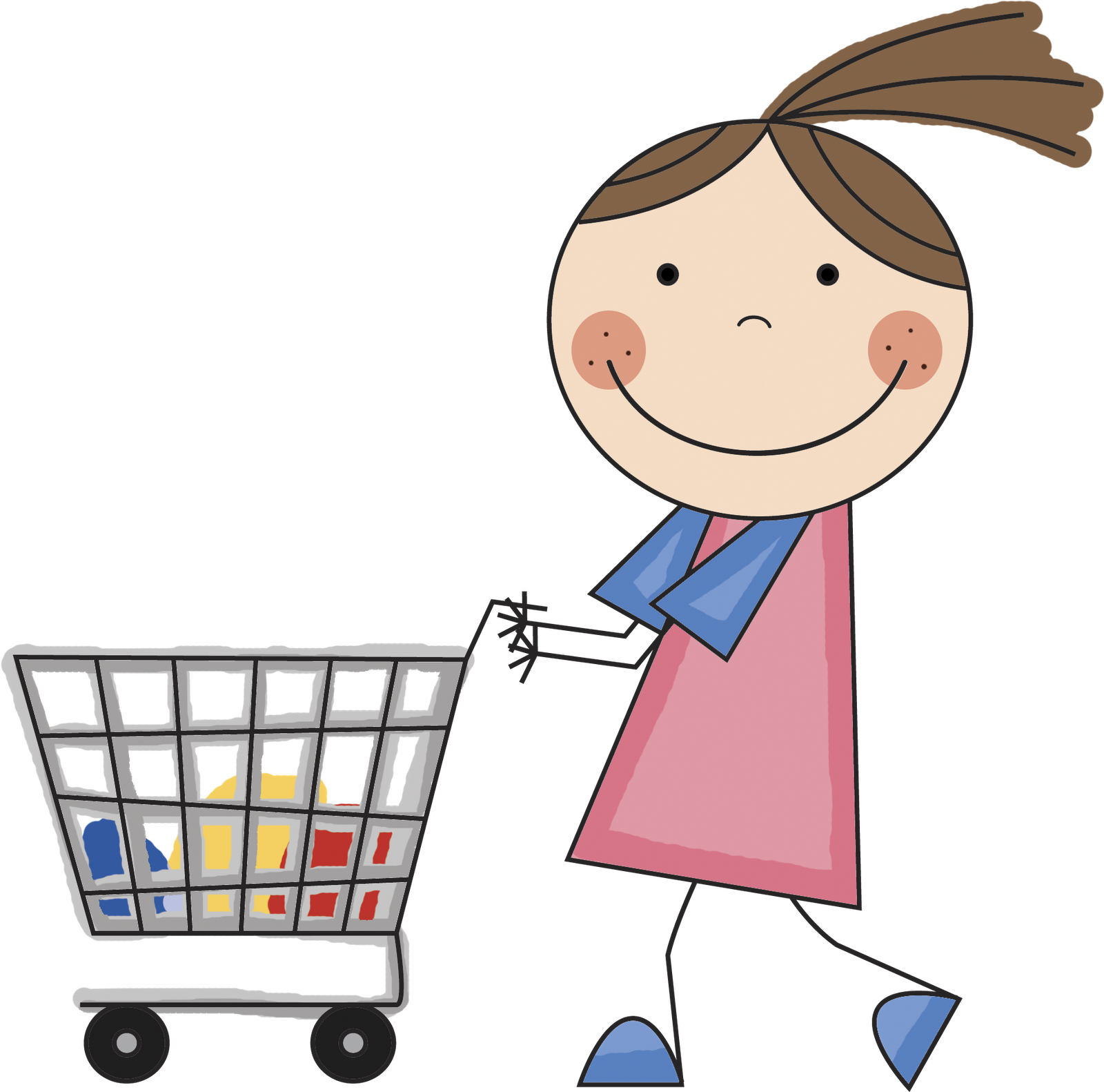 Fashion girl vector free. Shopping transparent personal vector royalty free library