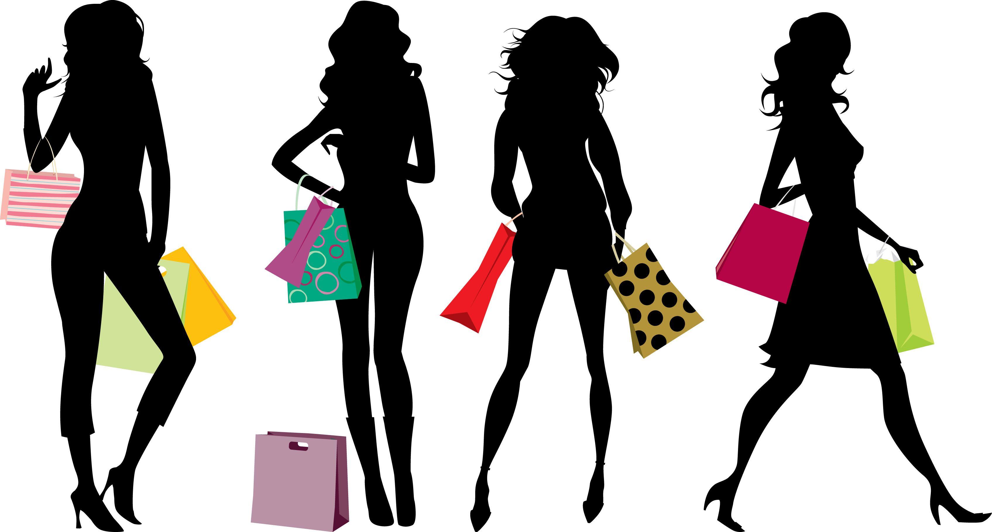 Fashion clipart shopper. Shopping as a plus