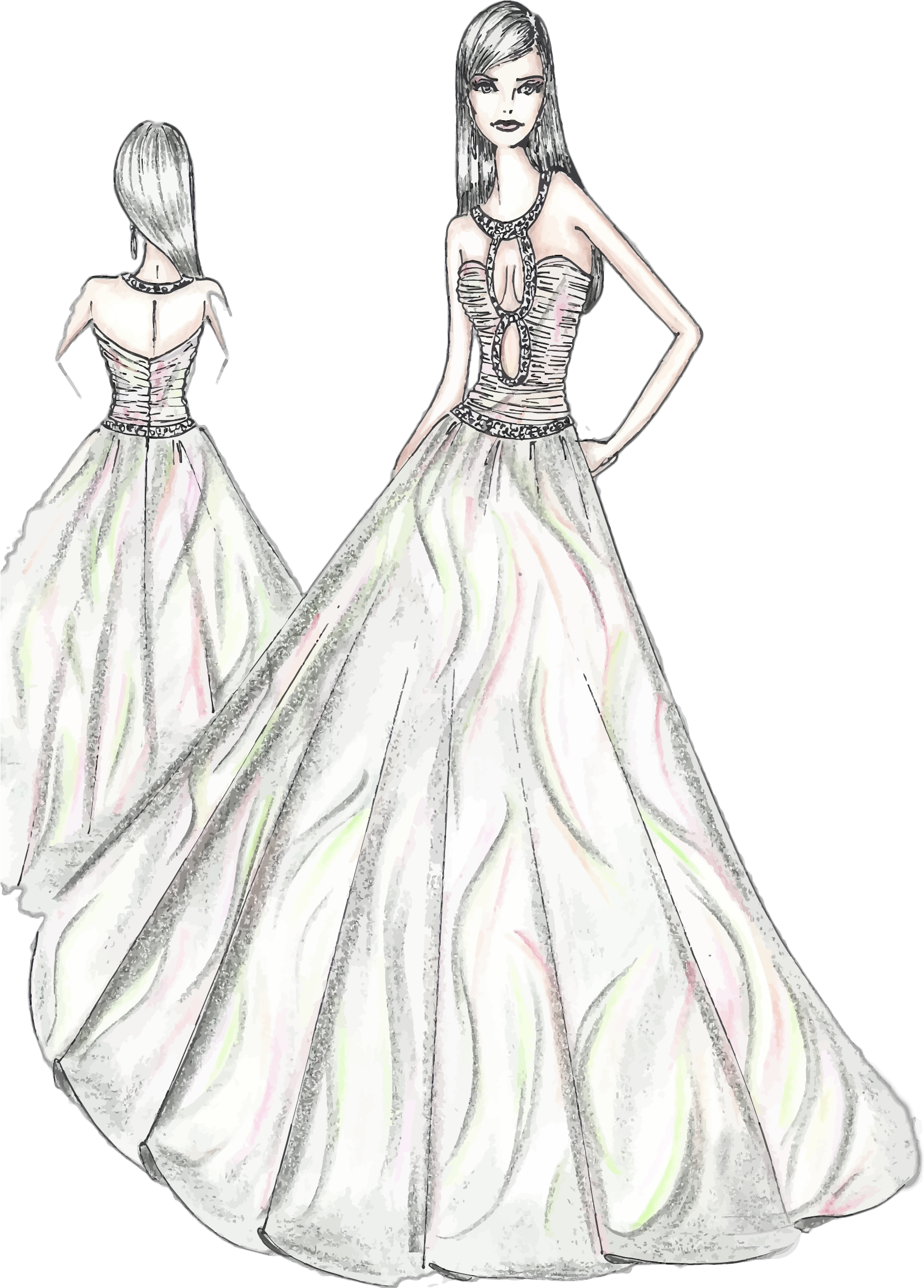 Fashionista drawing designer