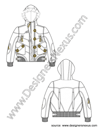 Drawing jackets hood. Pin by designers nexus