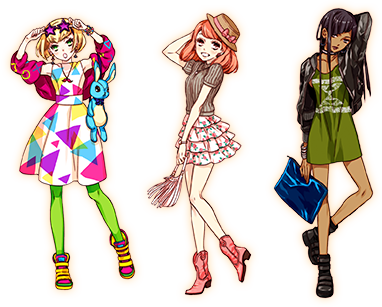 fashionista drawing handmade