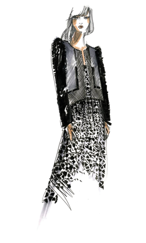 Fashionista drawing fashion pinterest. Fall color trends illustration