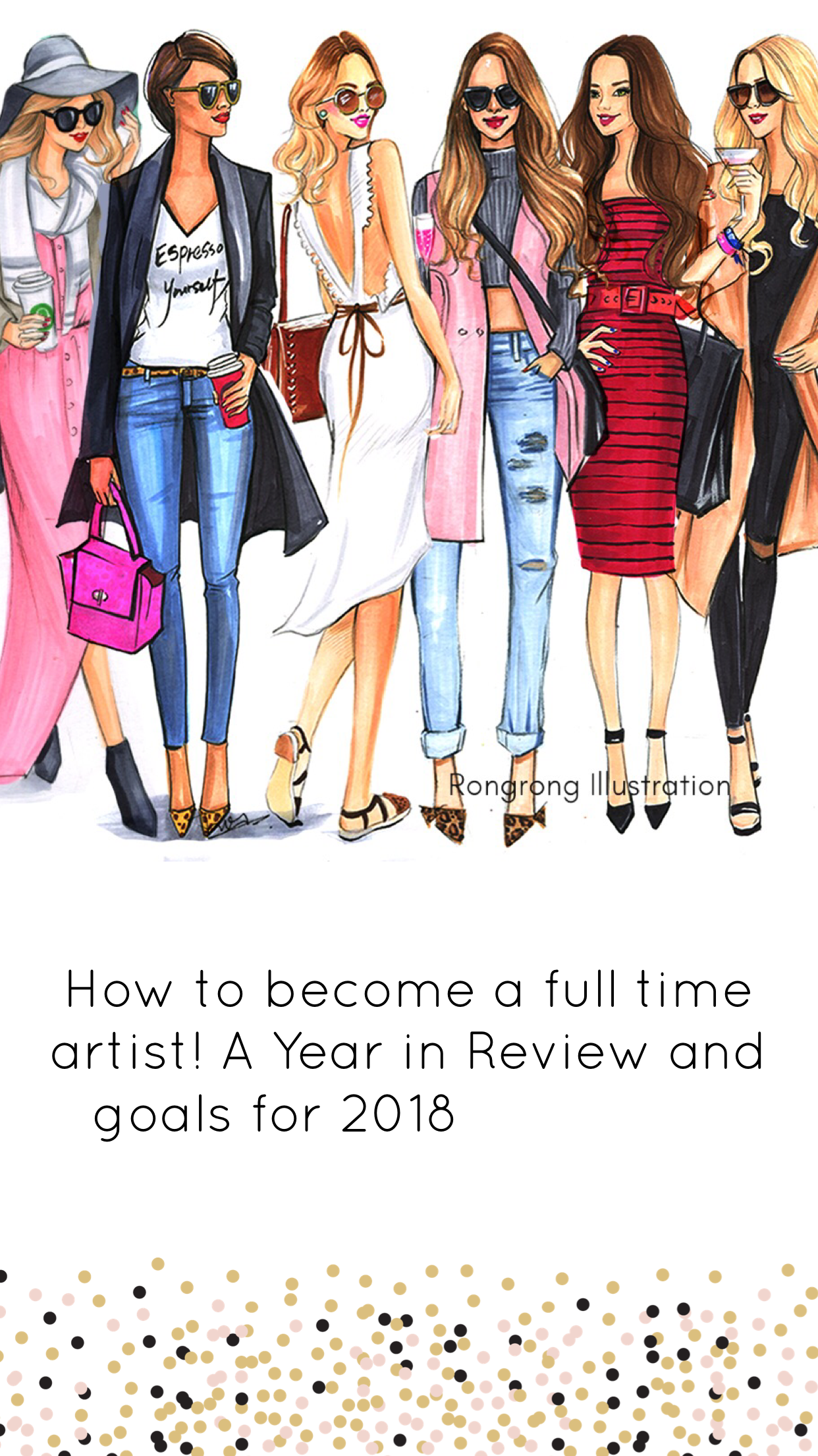 Fashionista drawing handmade. How to become a
