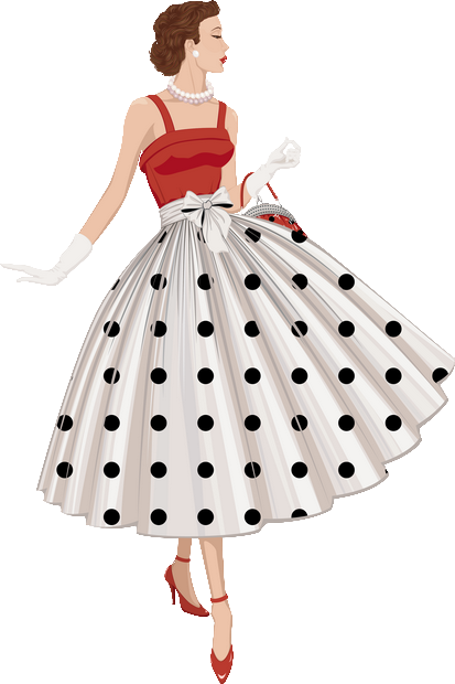 Fashionista drawing pattern. Png crafty prints