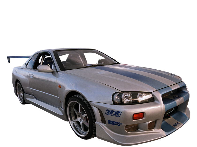 Cars transparent skyline. The fast furious live