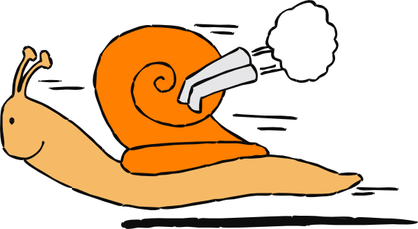 Fast clipart fast animal. Snail cartoon